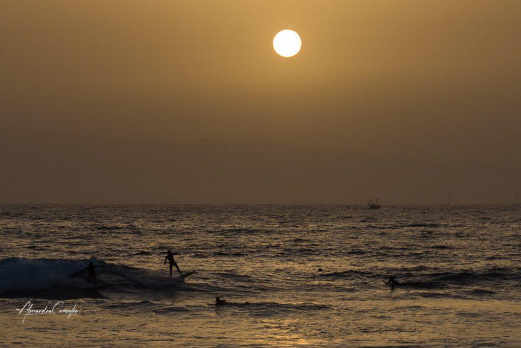 surf-tramonto-canarie-las americas-Tenerife